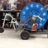 移動式ホースの巻き枠の用水系統、スプリンクラーの用水系統