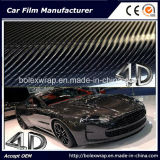Черный стикер винила волокна углерода 4D