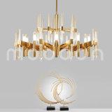 De moderne Grote LEIDENE van de Kleur van de Luxe Gouden G9 K9 Kroonluchter van het Kristal