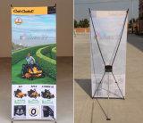Facile portatif de prix usine d'installer le drapeau traditionnel d'exposition/système X