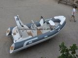 Liya 17ftのセリウムの証明書釣によっては中国の膨脹可能なボートの専門家がヨットに乗る