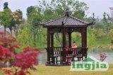 Gazebo extérieur hexagonal de patio d'écran en bois de jardin (SC-D006B)