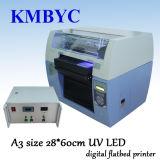 Impressora Flatbed UV de alta velocidade do diodo emissor de luz Digital do tamanho A3