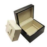 Коробка вахты подарка оптовой высокой черноты лоска деревянная