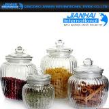 Bello vaso di muratore di vetro dell'alto silice con memoria dell'alimento e della spremuta