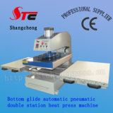 Pneumatic Big Format Double Stationheat Press Machine 60*80cm Automatic Bottom Glide Heat Transfer Machine Hot Sale T Shirt Transfer Printing Machine Stc-Qd07