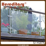Самомоднейшая балюстрада нержавеющей стали и стекла для крытой лестницы (SJ-H1901)