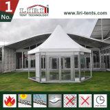 Estructura al por mayor de la tienda del hexágono del marco para el acontecimiento al aire libre de la fábrica