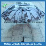 Печатание передачи тепла гольфа створки подарка 2 тавра промотирования зонтик большого складывая