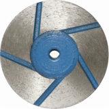 Roue de cuvette de section pour le meulage en pierre