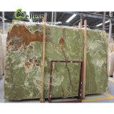 Belles brames vertes transparentes de marbre d'Onyx