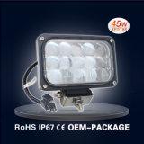 45W Hi / Lo LED Square Faro de camiones de Trabajo de la lente 4D Luz