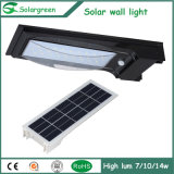 5W Amazon Online Solar LED lâmpada de parede Fence Estacionamento Yard Street Garden Light