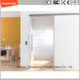 호텔과 홈에 있는 문 Windows 또는 샤워 문을%s 4-19mm 실크스크린 인쇄 또는 산성 식각 또는 서리로 덥은 또는 패턴 편평하거나 굽은 안전 강화 유리