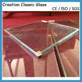 """vetro temperato ultra chiaro del vetro """"float"""" di 4mm per il vetro di vetro/acquazzone della costruzione"""