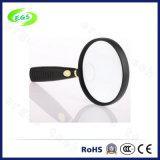 白いガラスが付いている10X手持ち型の拡大鏡