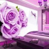 Nuovi murali autoadesivi smontabili romantici della parete della Rosa di ampio formato di disegno per la stanza della base