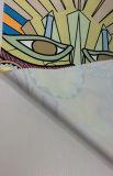 Il poliestere ha stampato il tessuto della saia per le tessile della casa del pannello esterno del vestito