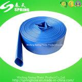 Tuyau plat posé par PVC à haute pression de débit d'irrigation de ferme d'agriculture