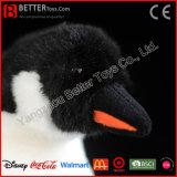 Pingouin mou de peluche de jouet de peluche réaliste de qualité d'ASTM
