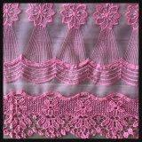 Шнурок вышивки полиэфира шнурка вышивки сетки цветка