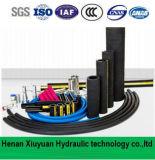 Boyau hydraulique flexible tressé de tuyau