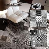 El edificio embaldosa el azulejo de suelo Polished esmaltado blanco y negro 600*600
