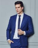 高品質の青いリネンはスーツと結婚している適当な人を細くする
