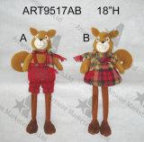 """белка Sitter-2asst. украшения рождества мальчика & девушки 18 """" h"""