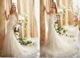 Schatz-Brautkleid-abgestufte Spitze-Nixe-Hochzeits-Kleider 2016