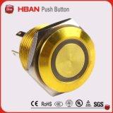 Cer TUV imprägniert der 16mm Ring-LED geleuchteten Metallmessingdrucktastenschalter