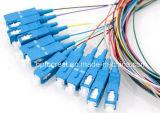 Câbles de tresse de fibre optique de SM de sortance de faisceau de Sc 12