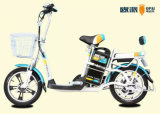 Vélo électrique de vélomoteur avec le panier, vélo électrique de scooter pour des adultes