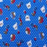 Nueva tela 100% de la franela de algodón del diseño 20*10 40*42 de la fábrica para el conjunto del bebé y del lecho