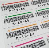 Cmyk Drucken-Barcode und Kleber-Aufkleber-Kennsatz