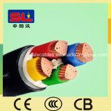 Cable acorazado aislado PVC de la base del alambre eléctrico 4 de la envoltura del PVC