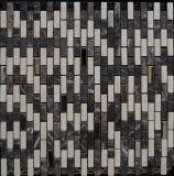 Azulejo de Mosaico Mezclado del Acero Inoxidable de la Piedra del Mármol del Material de Construcción (FYSSC223)