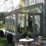 Ventana de vidrio de aluminio con puerta plegable grande (FT-S)