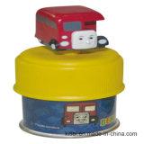 Игрушка коробки поезда оптовой цветастой деньг поезда рождества PVC винила Customed пластичная