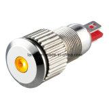 lámpara experimental de cobre amarillo niquelada impermeable del indicador de 8m m LED