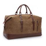 La manera empaqueta el equipaje que viaja portable ocasional de la lona retra