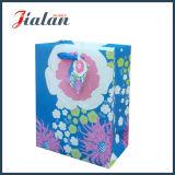 яркий блеск бумаги 210GSM цвета слоновой кости цветет мешок подарка пакета покупкы бумажный