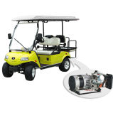 Carrello di golf giallo dei veicoli utilitari 2+2-Seater con la sede posteriore del ponticello