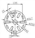 con la flangia mucchio di saldatura galvanizzato della vite per solare (F76A1-1800-T3.5)