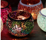 De Decoratie van de Houder van de Kaars van het Glas LEIDENE van het zonder vlammen Mozaïek van Kaarsen