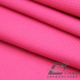 l'eau de 75D 260t et de vêtements de sport tissu 100% de polyester de jacquard de plaid de peau de pêche de pongé tissé par jupe extérieure Vent-Résistante vers le bas (53025)