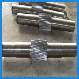 クレーン運転車輪のための中央シャフトを造る精密な機械化の合金鋼鉄