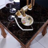 Mesa de lado de mármore moderno de estilo luxuoso