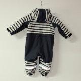 Zafiro/impermeable Conjoined raya blanca/guardapolvo de la PU para el bebé/los niños