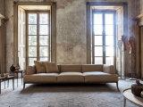 Sofà del cuoio genuino per la casa o l'hotel (GLS-010)
